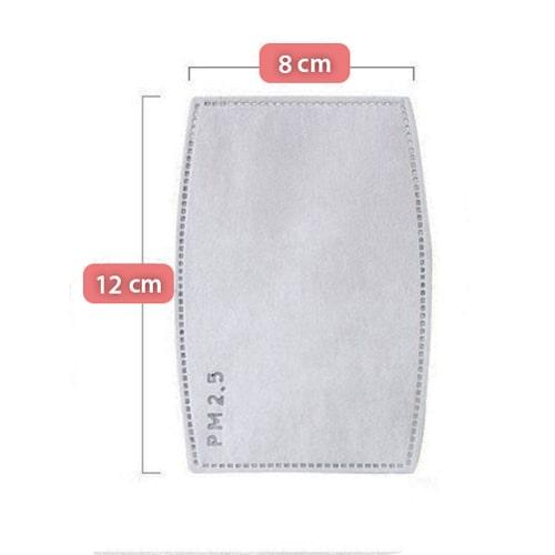 Wymiary filtra PM2,5 N99 do masek antysmogowych Vaire