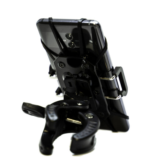 Uchwyt rowerowy na telefon double grip widok z tyłu