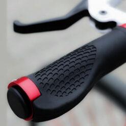 Aluminiowe chwyty rowerowe, gripy z podpórką na nadgarstek na kierownicy