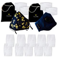 Zestaw dwóch masek antysmogowych z filtrami dla pary