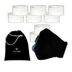 maska antysmogowa lazarus black z 6 filtrami