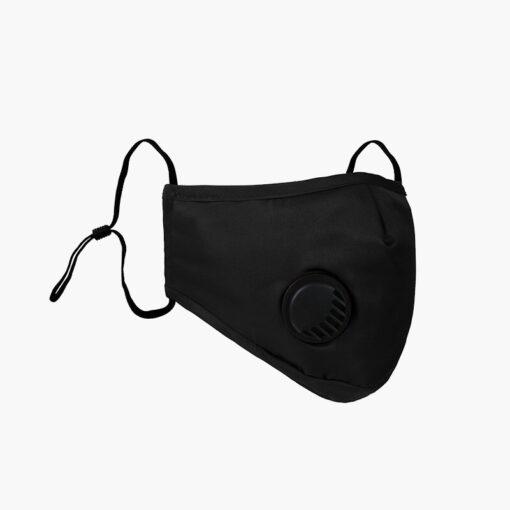 czarna maska z filtrami i zaworem