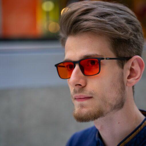 Męskie okulary blokujące światło niebieskie biohac