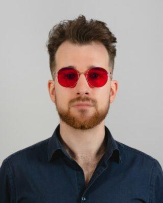 czerwone okulary blokujące światło niebieskie biohac moon