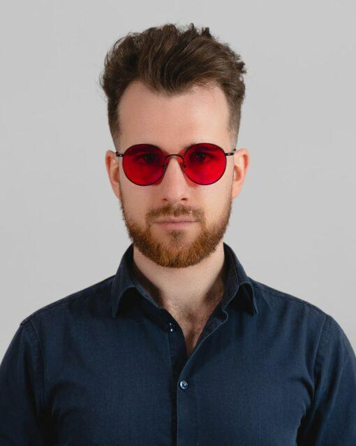 okrągłe okulary blokujące światło niebieskie biohac eclipse