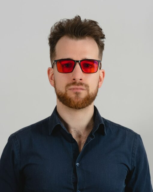okulary z pomarańczowymi szkłami biohac smart