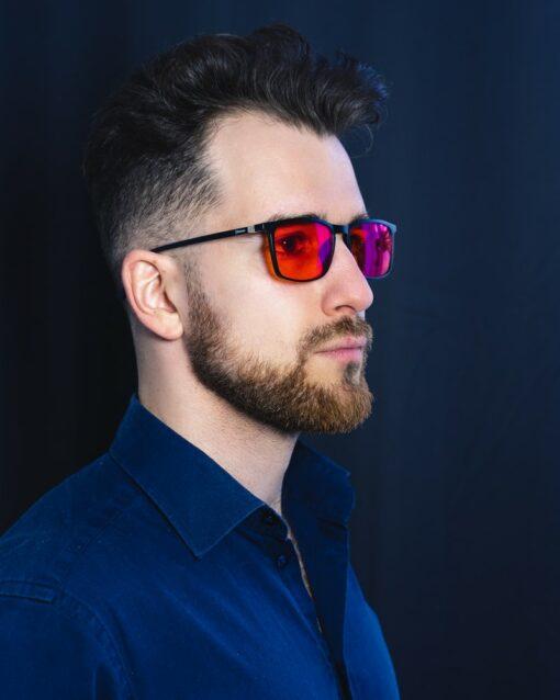 prostokątne okulary blokujące światło niebieskie biohac smart